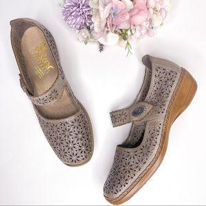 Rieker Doris Lasercut Perforated Mary Jane Shoes